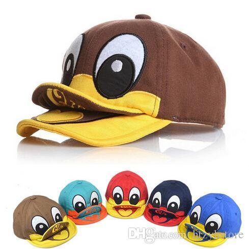Vente en gros - 1-3 ans Nouveau Design de canard mignon Nouveau-né Photographie Props Chapeaux enfants Casquettes de baseball