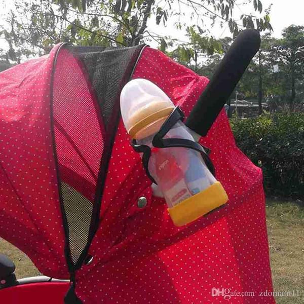 High Quality Baby Stroller Bottle Holder Universal Plastic Cup Drink Holder Stroller Carriage Accessories Black Color