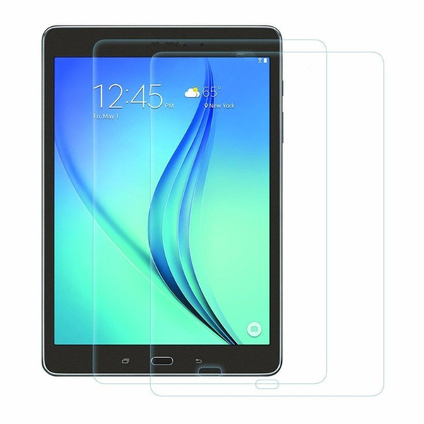 best selling Tempered Glass Protector Film For Galaxy T380 T385 T560 P580 T580 T280 Tab S3 9.7 T820 T825 S4 10.5 T830 835 Tablet PC With Dust Absorb Wipe