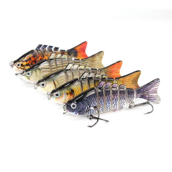 Fishing Lure Multi Jointed Segment Swimbait Lifelike Hard Bait Crankbait Treble Hooks for Bass Perch Trout