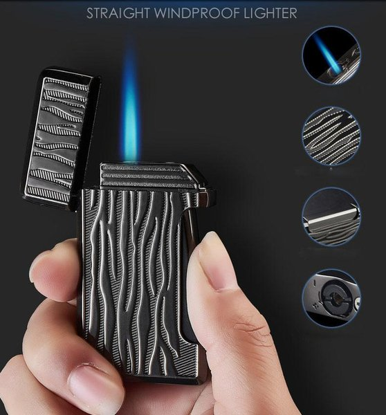 Metal Windproof single Jet Flame Torch Cigar Lighter Refillable Butane Cigarette Cigar Lighter For Smoking pipe Tools DHL FREE SHIPPING