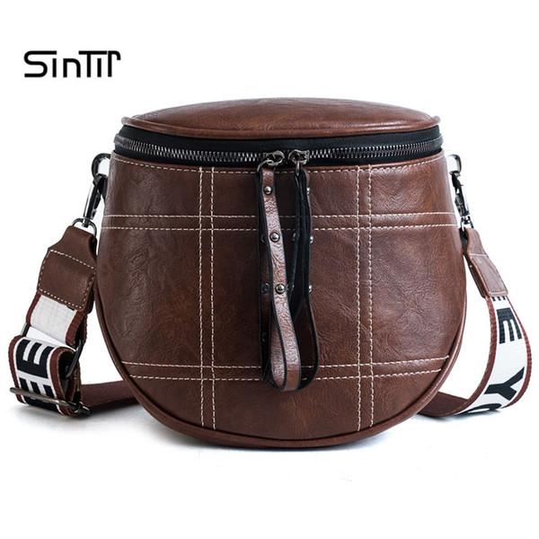 SINTIR Patchwork Bucket Woman Bag Pu Leather Crossbody Bags For Women Messenger Bags Female Shoulder Handbag Female Bag Bolsos