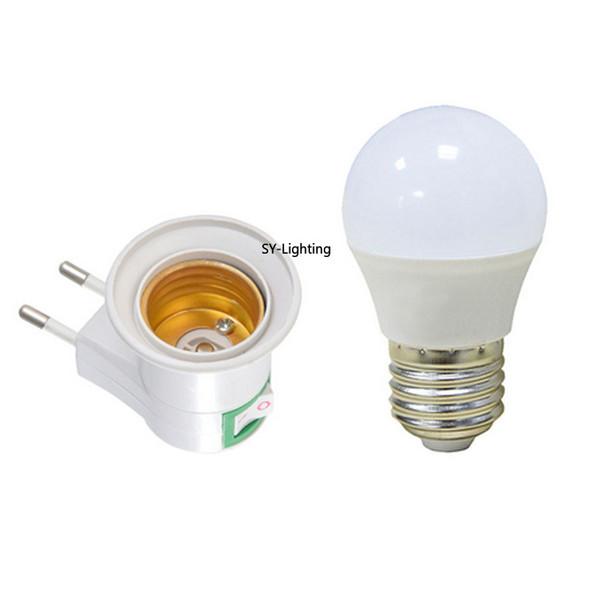 Us Uk Eu Au Type Led Under Cabinet Light Plug Adapter E27 Socket Bulb Lamp Holder For Wardrobe Closet Kitchen Led Night Light Candelabra Led Bulb 578