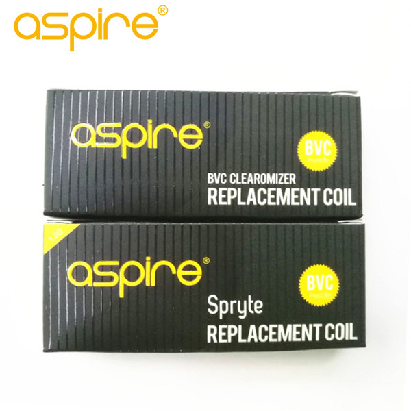 best selling Authentic Aspire BVC Coils 1.8ohm& Aspire Spryte BVC Coil 1.2ohm for spryte kit ecigarette replacement atomizer