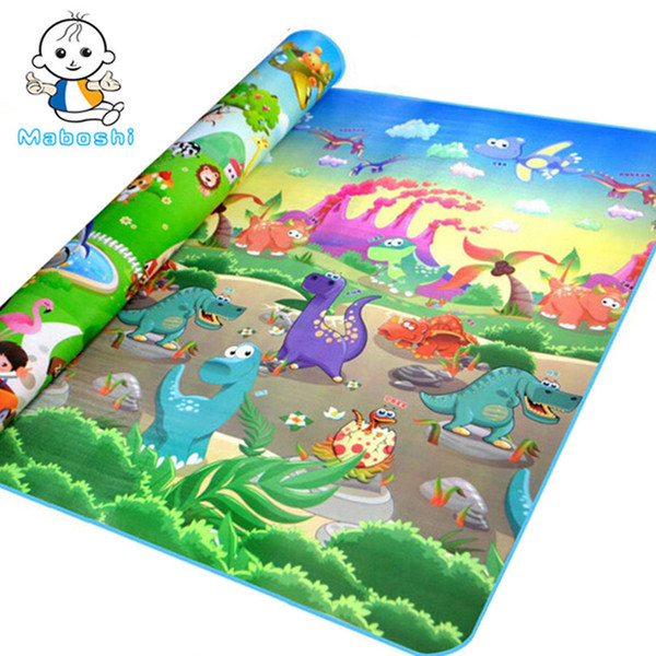 top popular Quality Maboshi Doulble-Sides Zoo Dinosaur Kids Play Child Picnic Beach Eva Foam Carpet Rug Crawling Mats Baby Toy Factory Cost Order Sale 2021