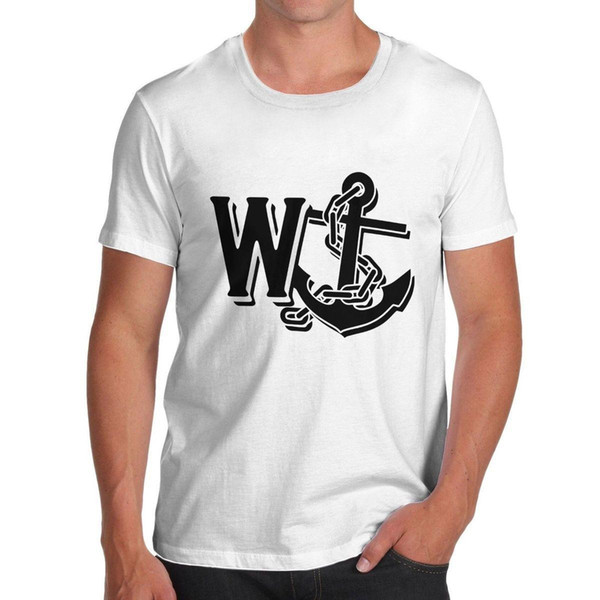 Camiseta Rude Navy Anchor Funny Slogan de hombre