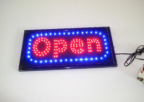 Open Shop Cafe Bar Pub Business Led Motion Running Neon Light Signs On/off Switch Us Plug