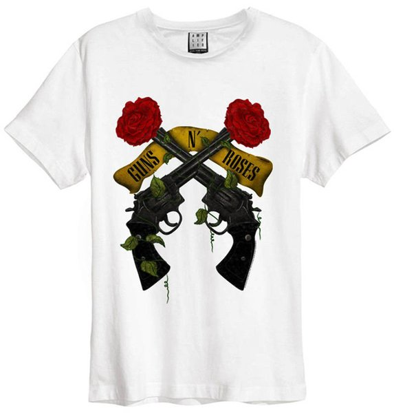 T-Shirt für Männer mit Rundhalsausschnitt Herren Guns N 'Roses Kurzarm-Geschenkhemden