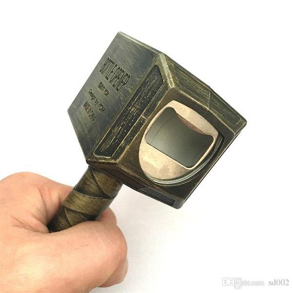 Fashion Thor Hammer Bottle Opener Novelty Retro Metal Beer Corkscrew With Handle Kitchen Bar Tools Sturdy Design 20mm ZZ