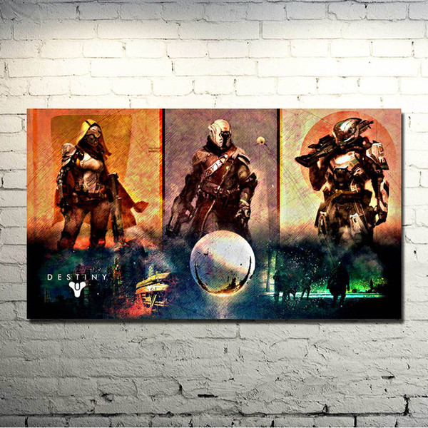 Hot Shooting Game Art Silk Poster Print 13x24 inches Home Bedroom Decor Hunter Warlock Titan 001