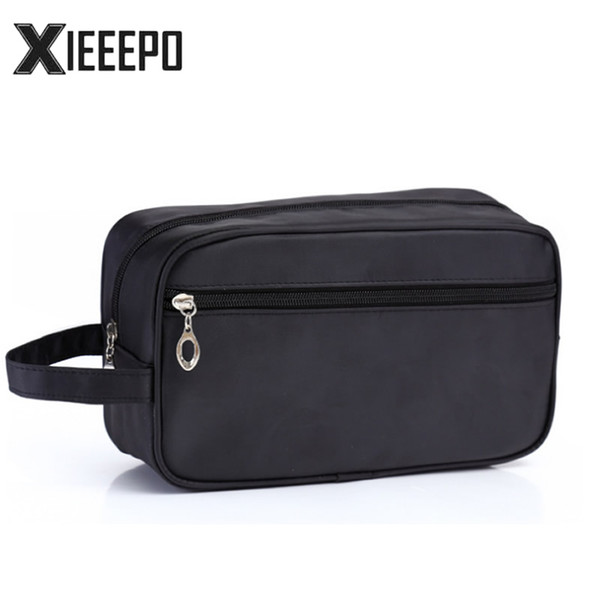 Men Travel Cosmetic Bag Trunk Makeup Case Zipper Dot Make Up Handbag Necessaries Organizer Storage Pouch Toiletry Wash Box