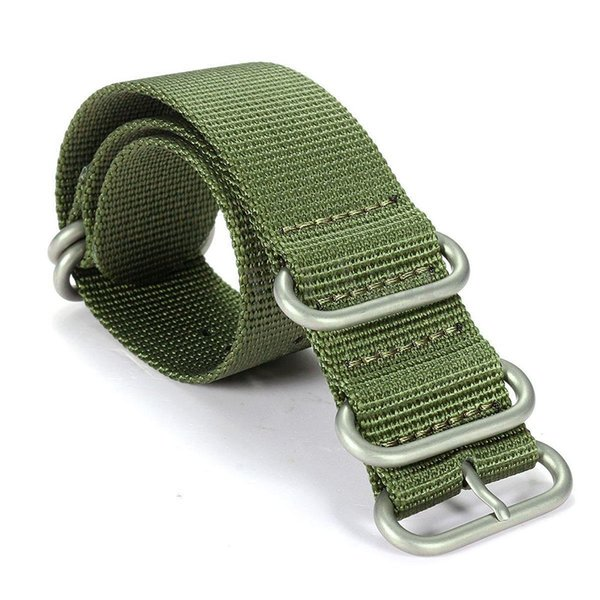 Fashion For Smart Watch Sports Nylon Watch Band Wrist Strap Bracelet, Army Green