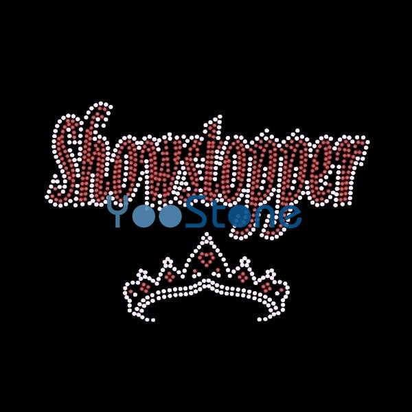 New Style Showstopper Crown Iron On Rhinestone Transfer