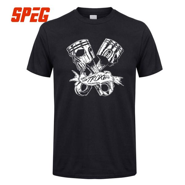 T Gömlek Satışı Sıcak Çubuk Dövme Biker Hız Tees Için Tasarlanmış Totenkopf Rockabilly Kafatası Rocker Erkekler Pamuk Kısa Kollu T Gömlek Genç
