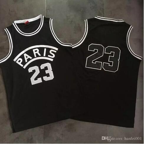 18ss PARIS SCHWARZ basketball weste T Mode Lässig Strand Weste Ärmellos Luxus Einfache Männer Frauen Sommer Kühlen Festes T-shirt