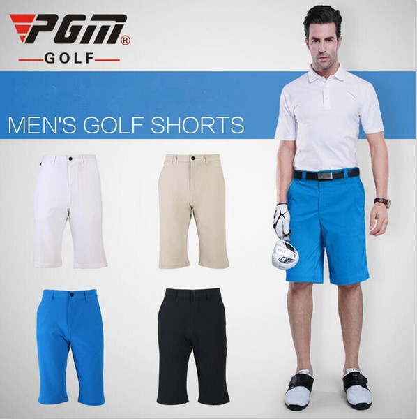 PGM Men Golf Shorts Summer Quick Dry Sport Knee Length Shorts for Men Breathable Male Golf Plus Size Clothing