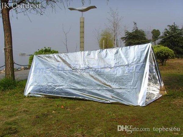 SOS Hunting Shelter Emergency Blanket Outdoor Camping Climbing Equipment Travel Kit Survival Tool Tent Survival Gear Terbuka