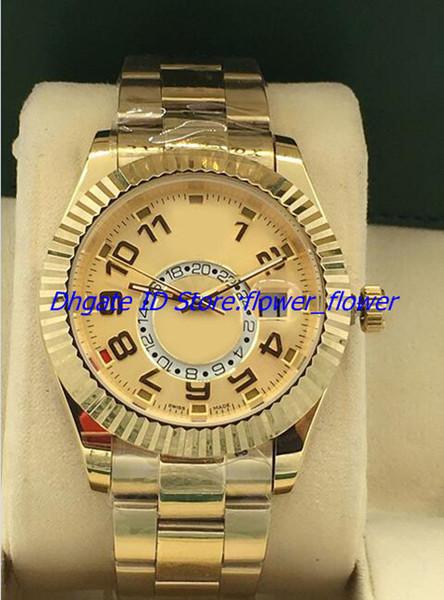 2018 Новый высокое качество роскошный завод поставщик высокое качество Марка часы мужчины движение 326933 механические автоматические 42 мм мужские часы Наручные часы
