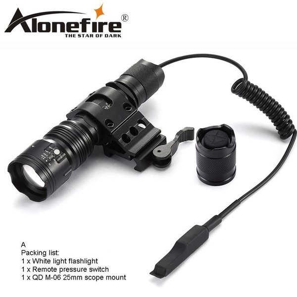 AloneFire TK104 XM-L2 led waterproof flashlights 5 modes tactic lintern flash light with remote pressure pad switch for Tactecal lighting