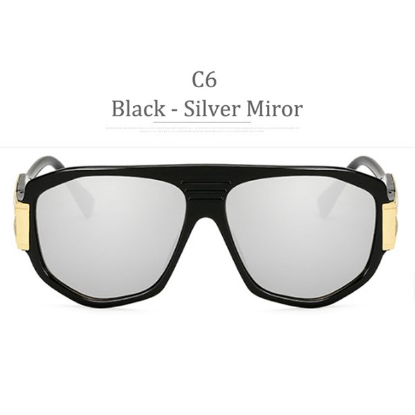 C6 Black Frame Silver Miror