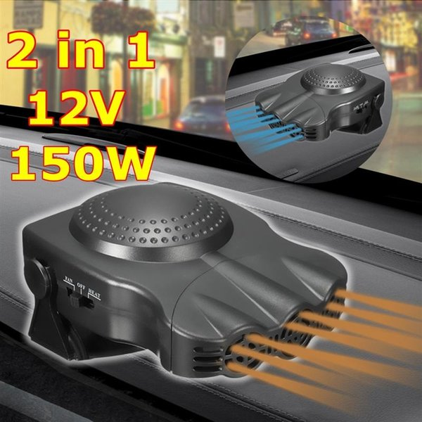 12V 150W Protable Auto Car Heater Heating Cooling Fan Windscreen Window Demister DEFROSTER Driving Defroster Demister (Balck) (Retail)