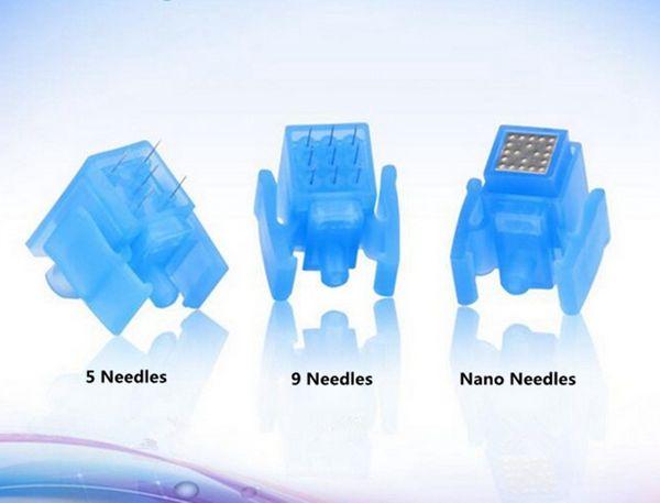 Water Meso Injector Gun Needle Mesotherapy Gun with 5/9/nano pins needles Disposable Mesoneedle injection serum skin rejuvenation