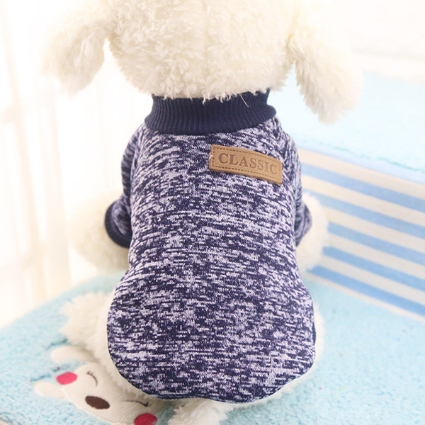 2pc Warm Dog Clothes For Small Dogs Winter Soft Pet Dog Sweater Clothing For Dog Winter Chihuahua Clothes Classic Pet Outfit 25S1