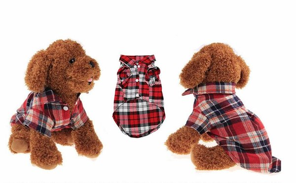 Pet щенок одежда для собак лето плед собака рубашка пальто куртки кошка сетки костюмы для малых средних собак Йорки чихуахуа одежда