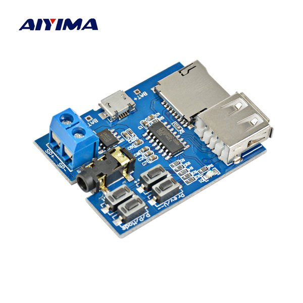3 player AIYIMA Built in 2W Monaural Amplifier 3 Lossless Decoding Module TF Card U Disk MP3 Player Decoder Module