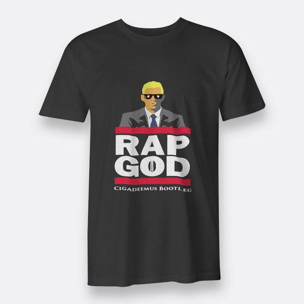 Eminem RAP GOD! Hip-Hop Rap Men's Black T-shirt Tee Size S-3XLsuit hat pink t-shirt