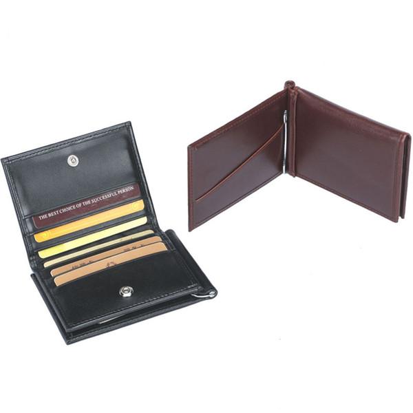 Männer Geld Clips Business ID Halter Geldbörsen Pu-leder Geldbörse Casual Tasche Hochwertigen Geldscheinklammer Brieftasche 2017