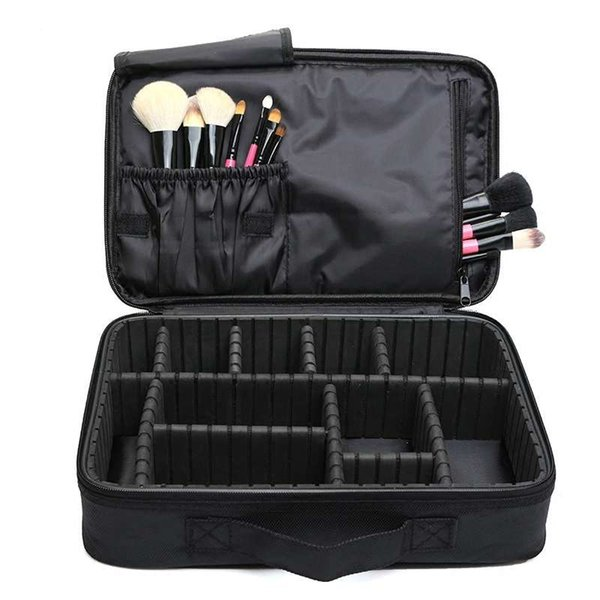 ALYMLH Brand Women Travel Large Double Layer Professional Cosmetic Cases For Organizer Tattoos Nail Art Tool Beauty Makeup Bag