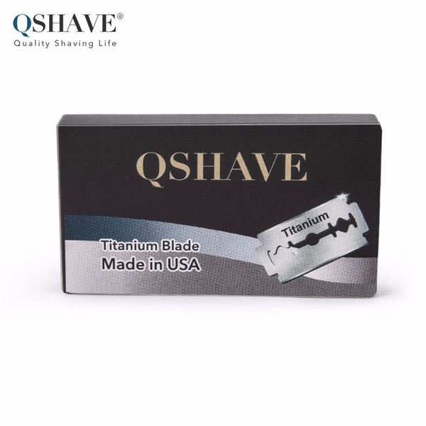 Qshave Safety Razor Blade Navaja recta Titanium Blade Double Edge Classic Safety Hecho en EE. UU.