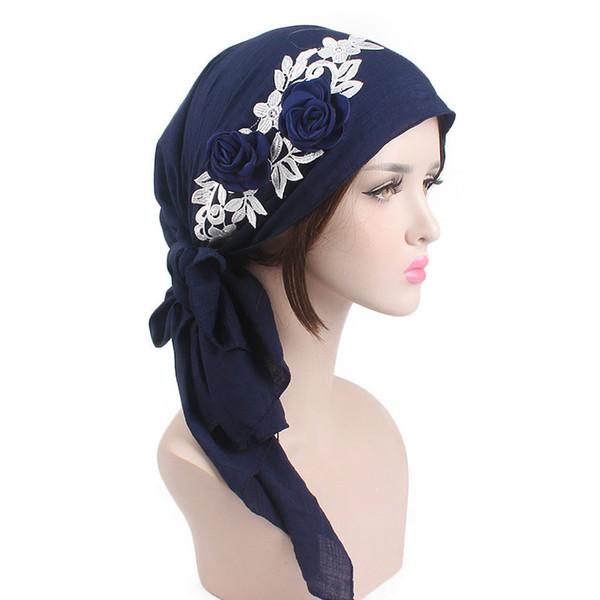 Muslim Cotton Cover Inner Hijab Cap Islamic Head Wear Hat Under Scarf Fashion Women's Hijabs