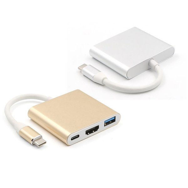 مزيج الألوان 3 في 1 نوع C إلى HDMI