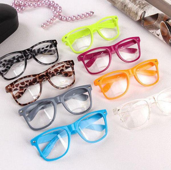 top popular Rivet Sunglasses Retro Vintage Square Full Frame Eyeglass Metal Sun Glasses Punk Geek Style Clear Lens Glasses OOA4730 2019
