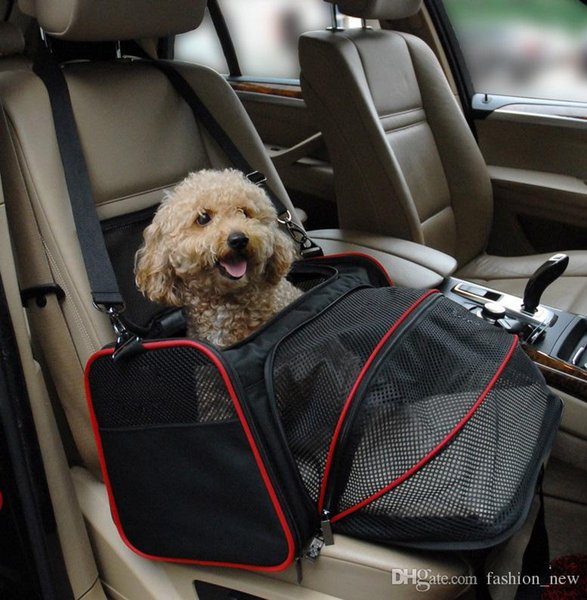 New Luxurious Expandable Portable Pet Dog Car Travel Bag For Small Dogs Oxford Breathable Cat Carrier Outdoor Car Travel Accessories