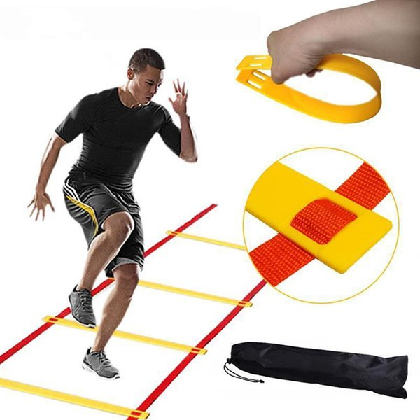 12 Rung 6M Football Training Speed Agility Ladder Black Straps Training Ladder Step Soccer Accessories 2 Colors