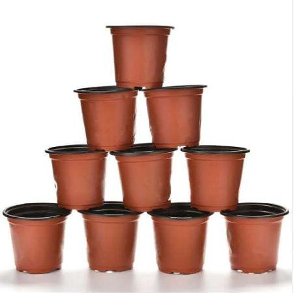 10 Unidades / pacote 90 X 80 X 60mm Nova Vasos De Flores de Plástico Pequenos Vasos Viveiro Berçário Altura