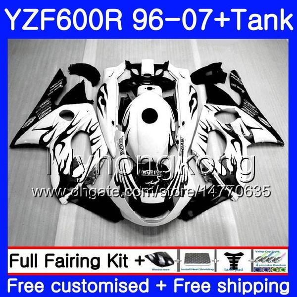 Черное пламя горячий корпус + бак для YAMAHA Thundercat YZF600R 96 97 98 99 00 01 229HM.11 YZF-600R YZF 600R 1996 1997 1998 1999 2000 2001 обтекатель