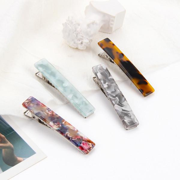 2X Multicolor pinzas para el cabello de las mujeres japonesas Barrettes de acetato Elegante pinza de pelo Diademas Lady Metal horquillas Accesorio de moda