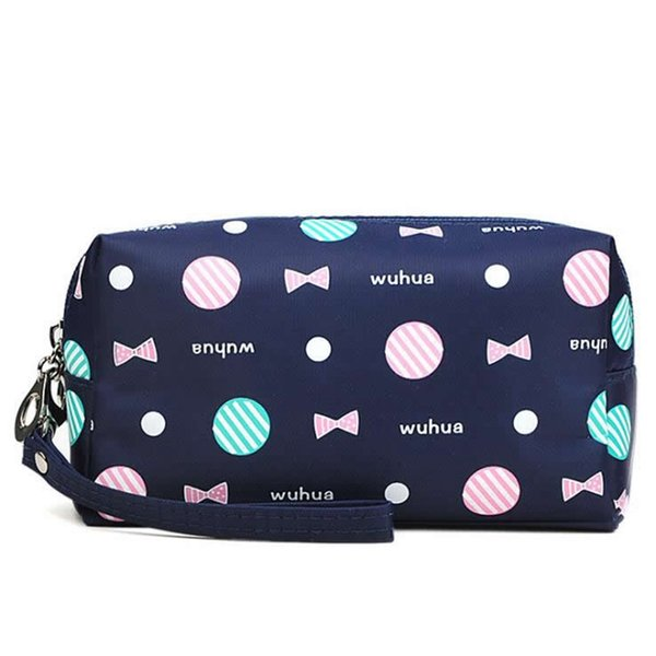 Travel Cosmetic Bag For Make Up Soft Dots Bowknot Makeup Bag Women Toiletry Kit Organizer Pillow Toiletry necessarie