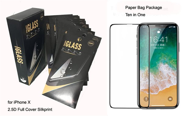 Colored Edge to Edge Tempered Glass Screen Protector for iPhone X876 Full Coverage Full Glue for Huawei Samsung Glass Film 9H