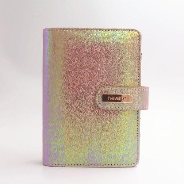 Never 2018 Ocean Spiral Notebook Gift 6 hole Loose-Leaf Diary A6 Spiral Planner Golden Cover Binder Organizer Korean Stationery