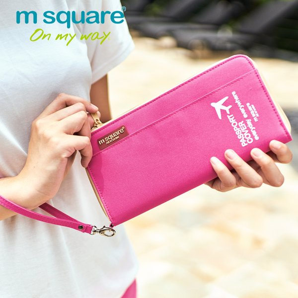 M Square Travel Card Holder Men Women Passport Cover ID Business  Wallet Organizer Purse Bag Case Passport Holders