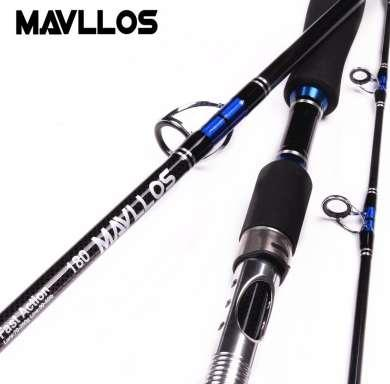 Mavllos Japan Guide Lure Weight 70-250g Sea Boat Jigging Fishing Rod 2.1M 3 Sections Carbon Fiber Saltwater Spinning Fishing Rod