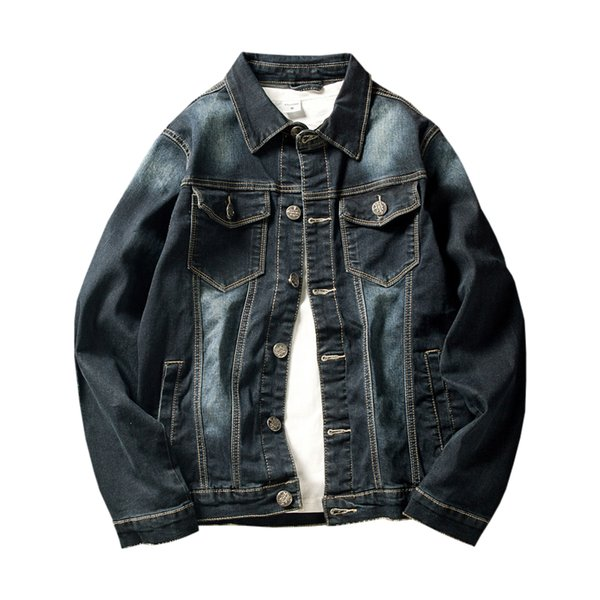 76cf4820456 Plus Size 5XL 2018 Spring Autumn New Fashion Slim Fit Young Men Hooded  Denim Jacket Thin