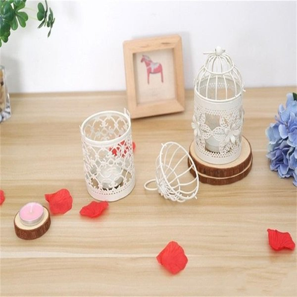 Morocco Bird Cage Candle Holders Hollowed Out Design Hanging Candleholder Vintage Party Wedding Decoration Small Tide 8 5hl cc