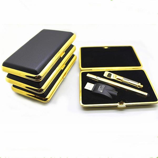 Gold disposable vape pen Concentrate oil Vaporizer pen starter kit 280mAh 510 button battery Ceramic Vape Cartridge O Pen Vapor 0.5ml 1ml