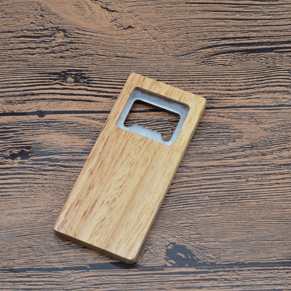 top popular Fine Quality Beer Bottle Opener Wooden Handle Corkscrew Stainless Steel Square Openers Eco Friendly Anti Scald Lightweight For Gift 3 8sr jj 2019